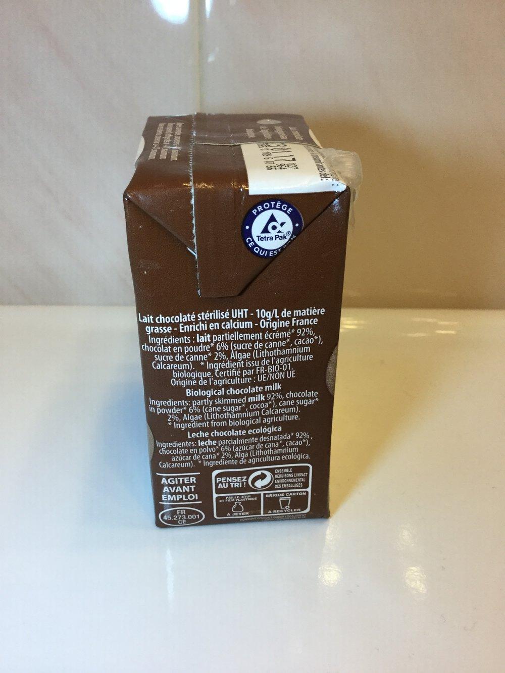 Le Gall Bio Lait Chocolaté Side 2