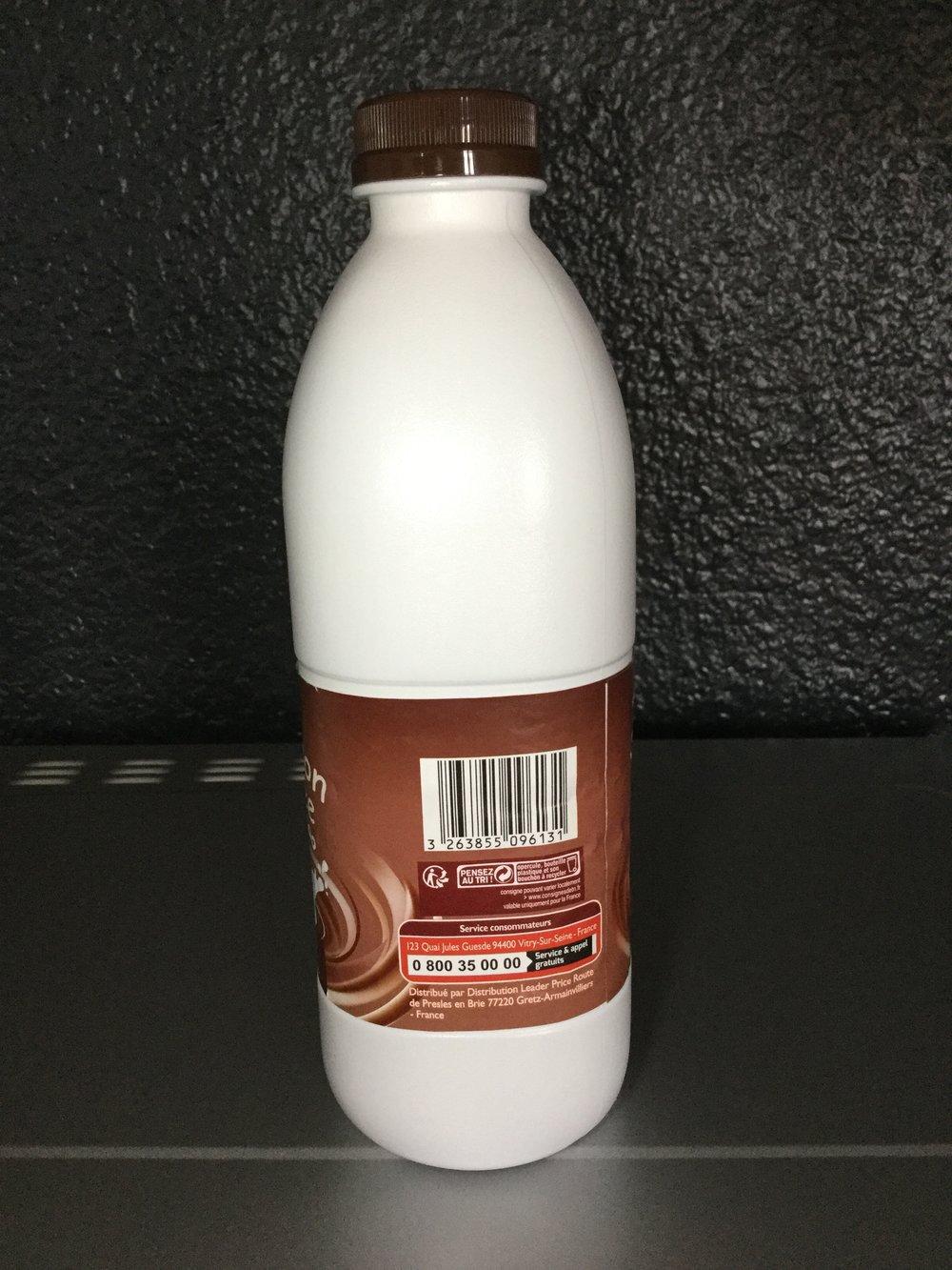 Leader Price Boisson Lactée Au Cacao Side 2