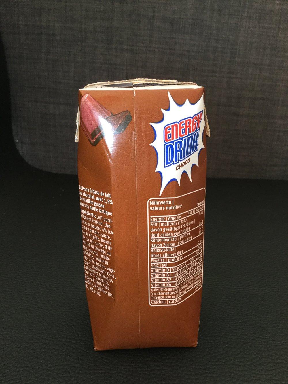 Migros Energy Drink Choco Side 1