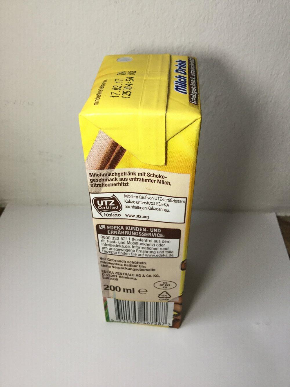 Edeka Gut & Günstig Milch Drink Schokogeschmack Side 2