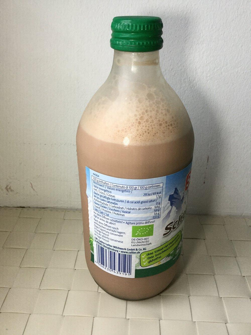 Saliter Bio Schoko Milch Side 1