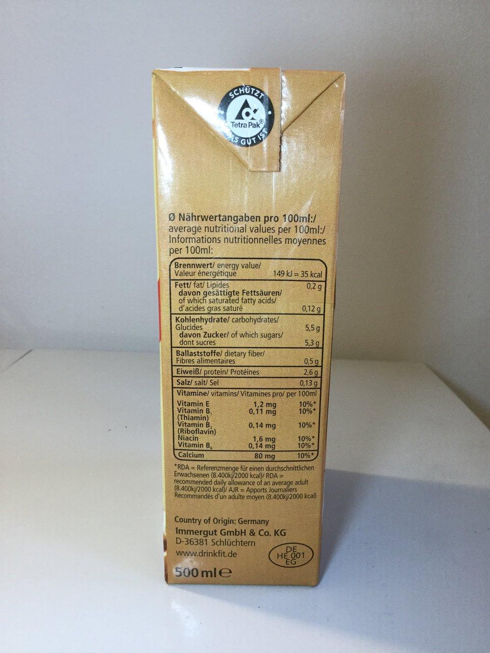 Drink Fit Choco (500mL) Side 1