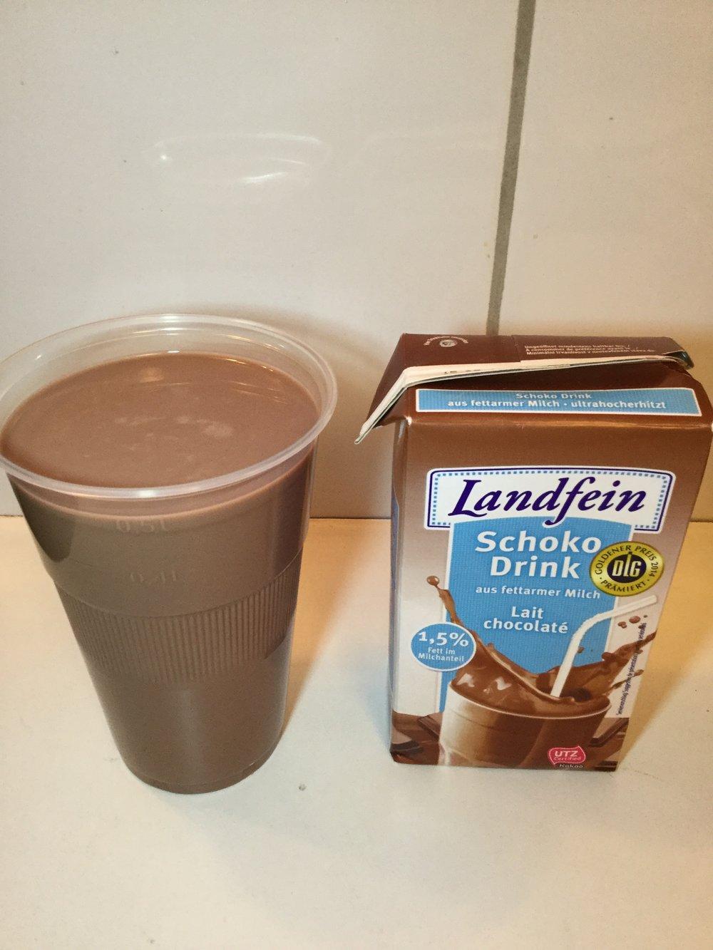 Landfein Schoko Drink (Low Fat) Cup