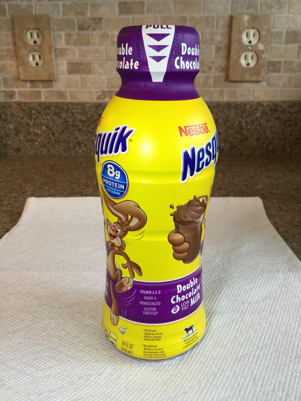 Nestle Nesquik Double Chocolate Low Fat Chocolate Milk Side 3