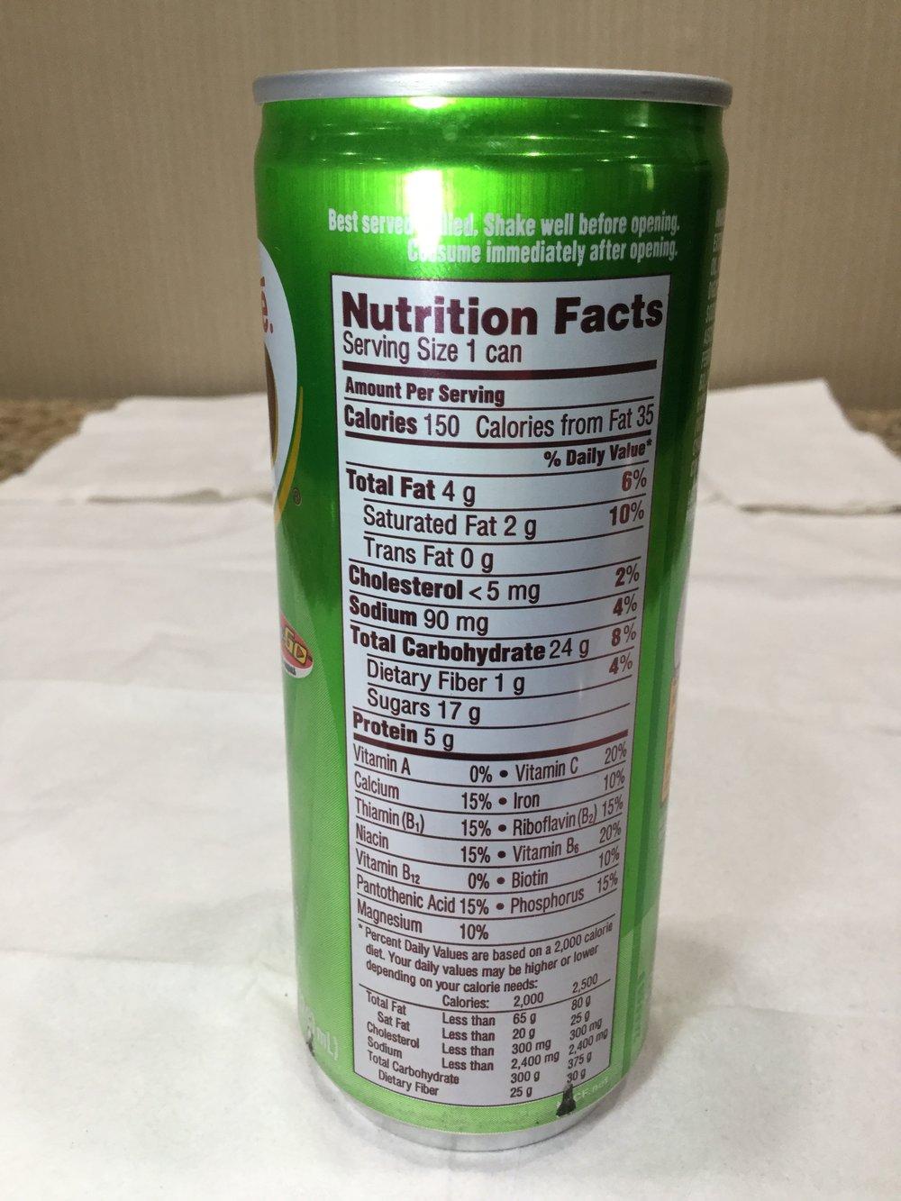 Milo Chocolate Milk Calories