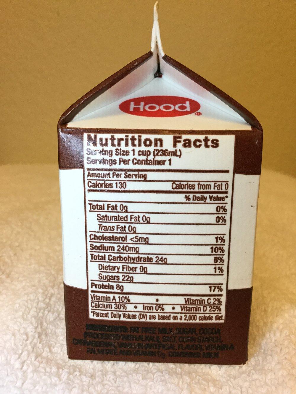hood chocolate milk fat free milk — afoolzerrand