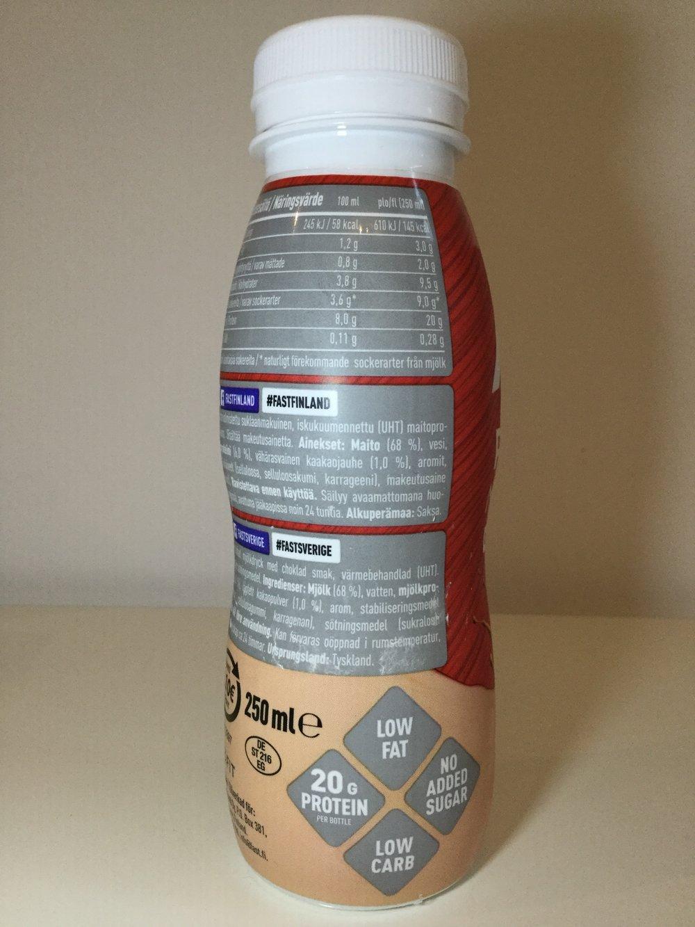 fast protein milkshake