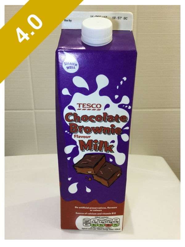 Tesco Chocolate Brownie Flavour Milk Chocolate Milk Reviews
