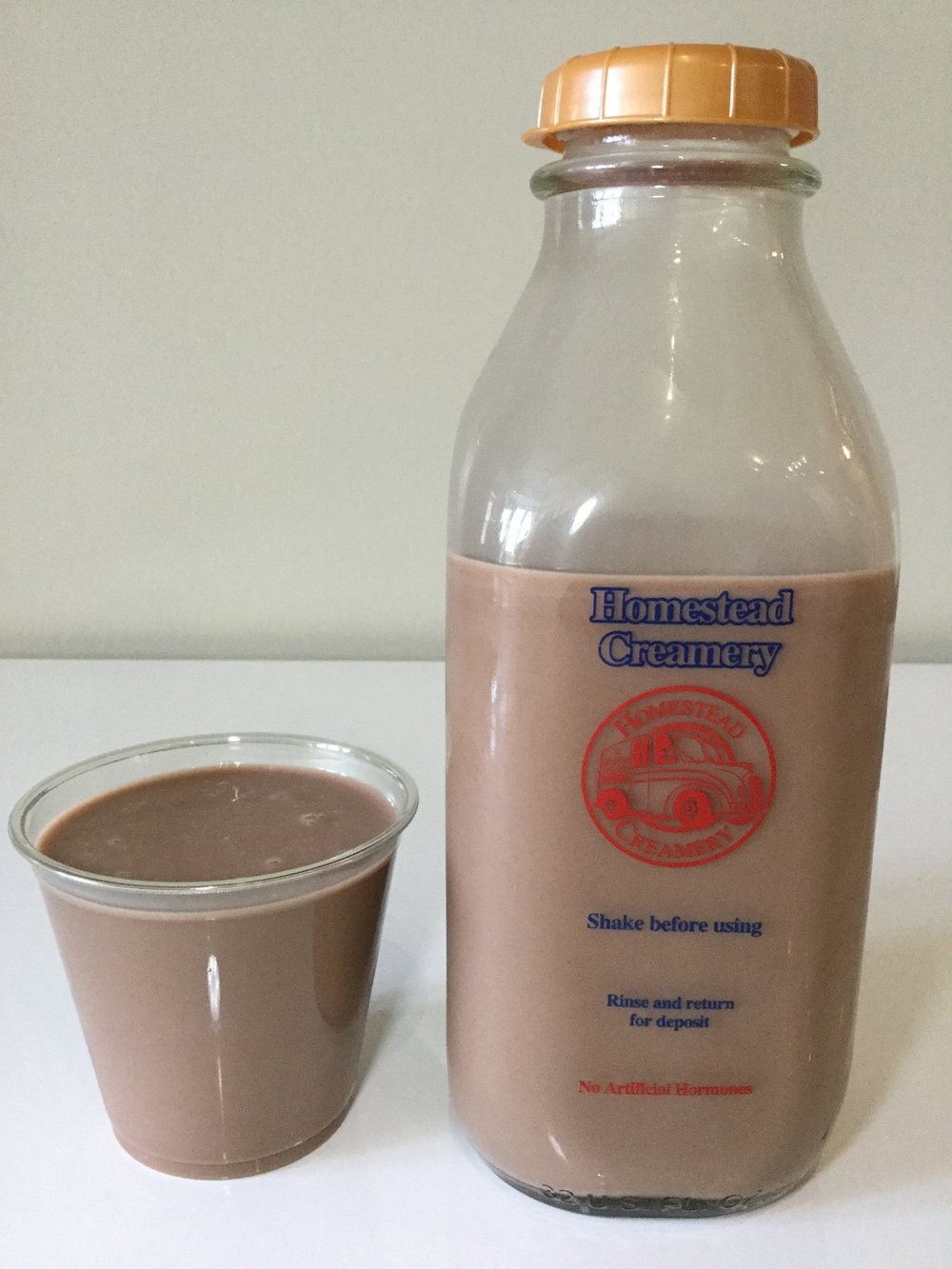 Homestead Creamery Chocolate Milk Cup