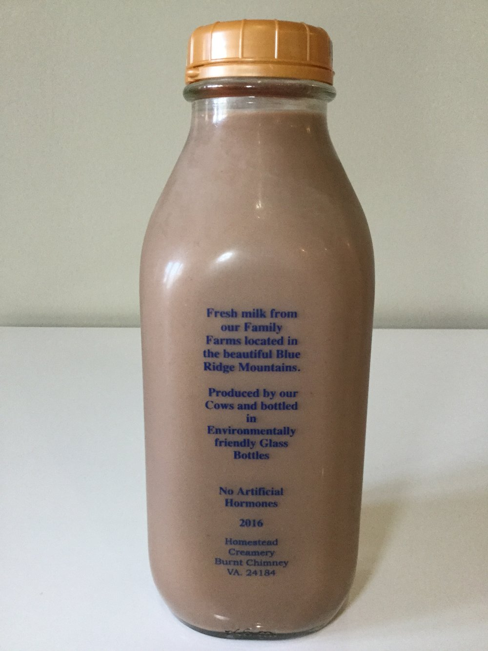Homestead Creamery Chocolate Milk Side 1