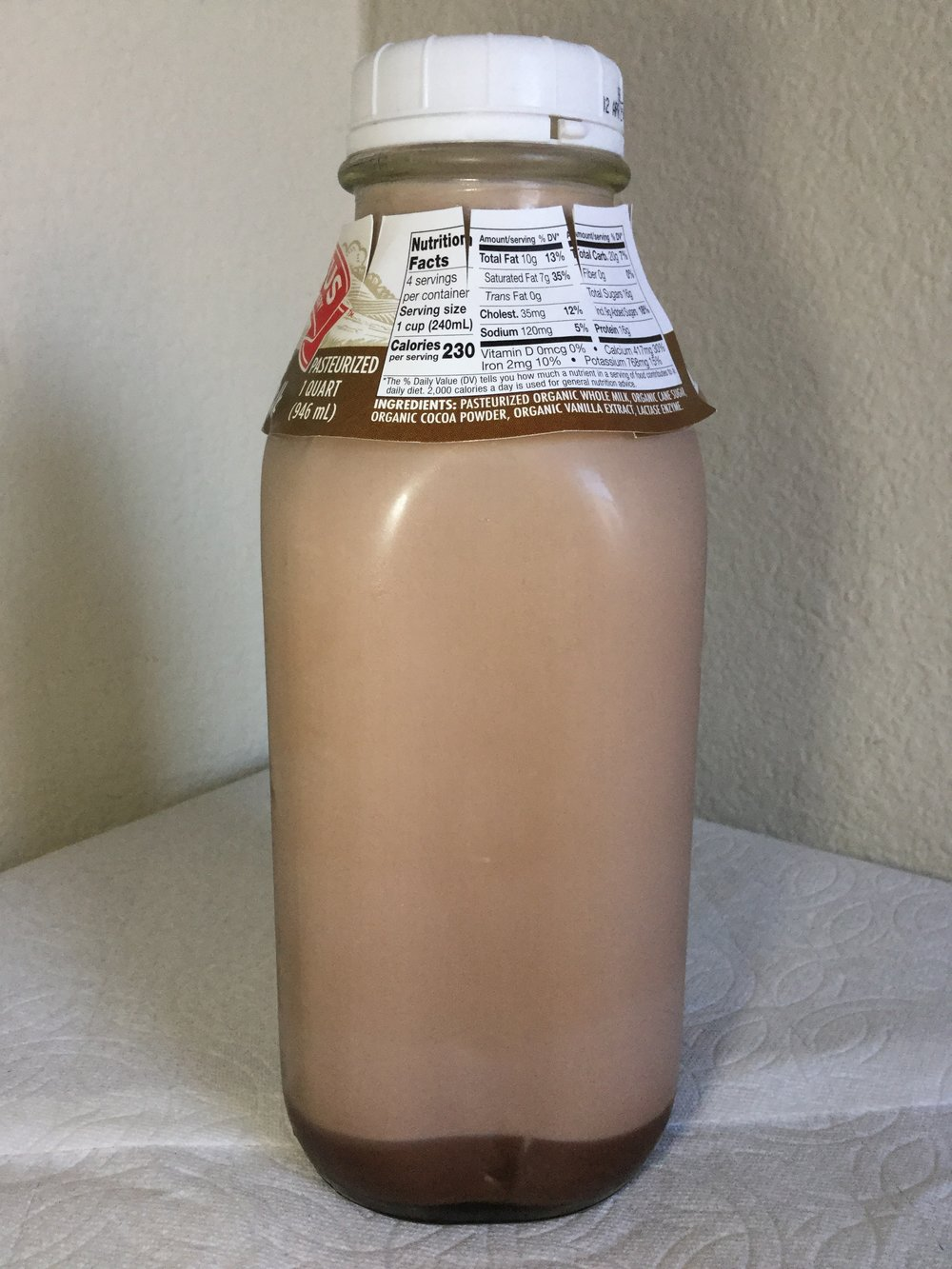 Straus Family Creamery Organic Chocolate Milk Side 1