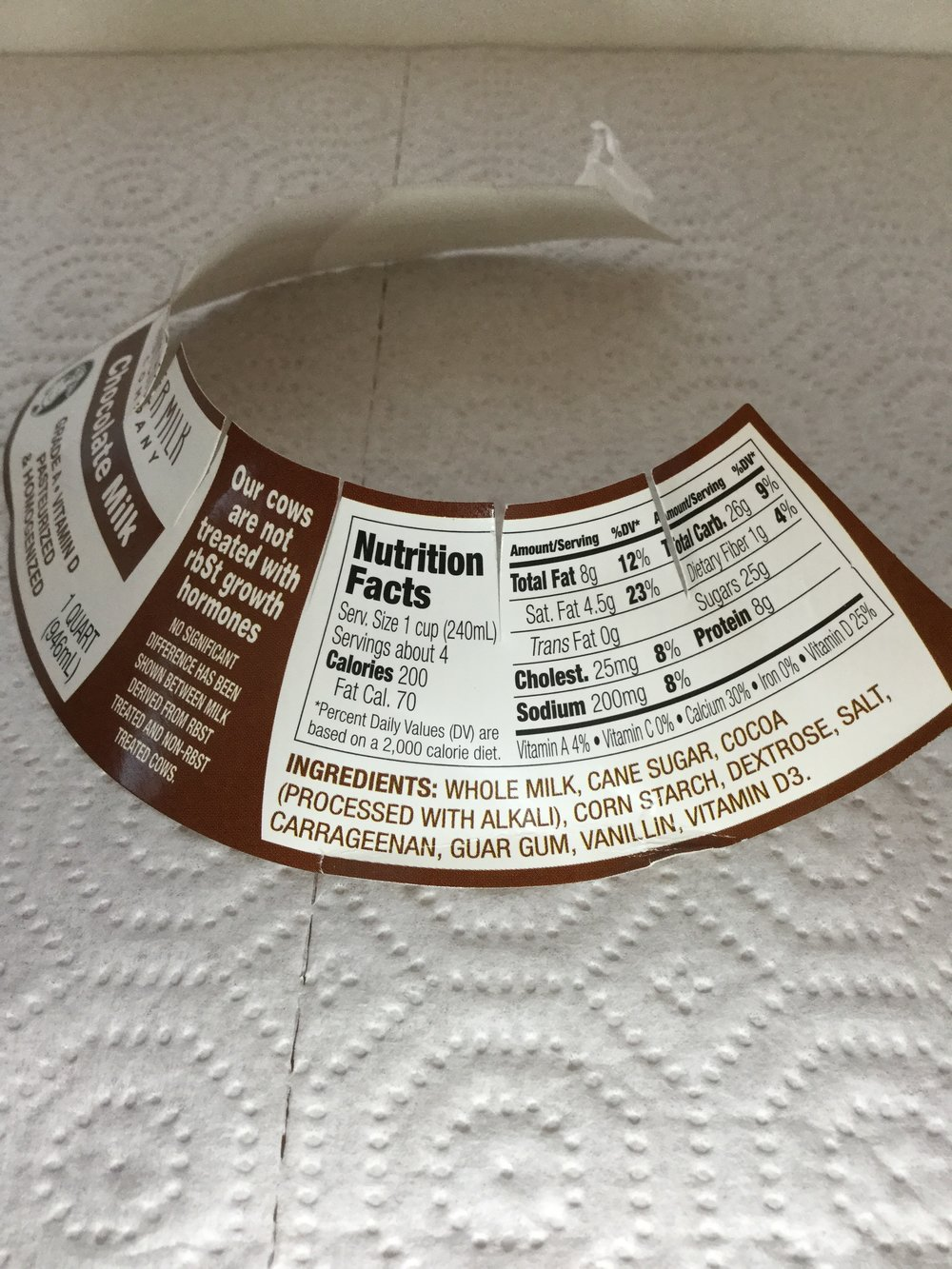 Nutcher Chocolate Milk Label 2