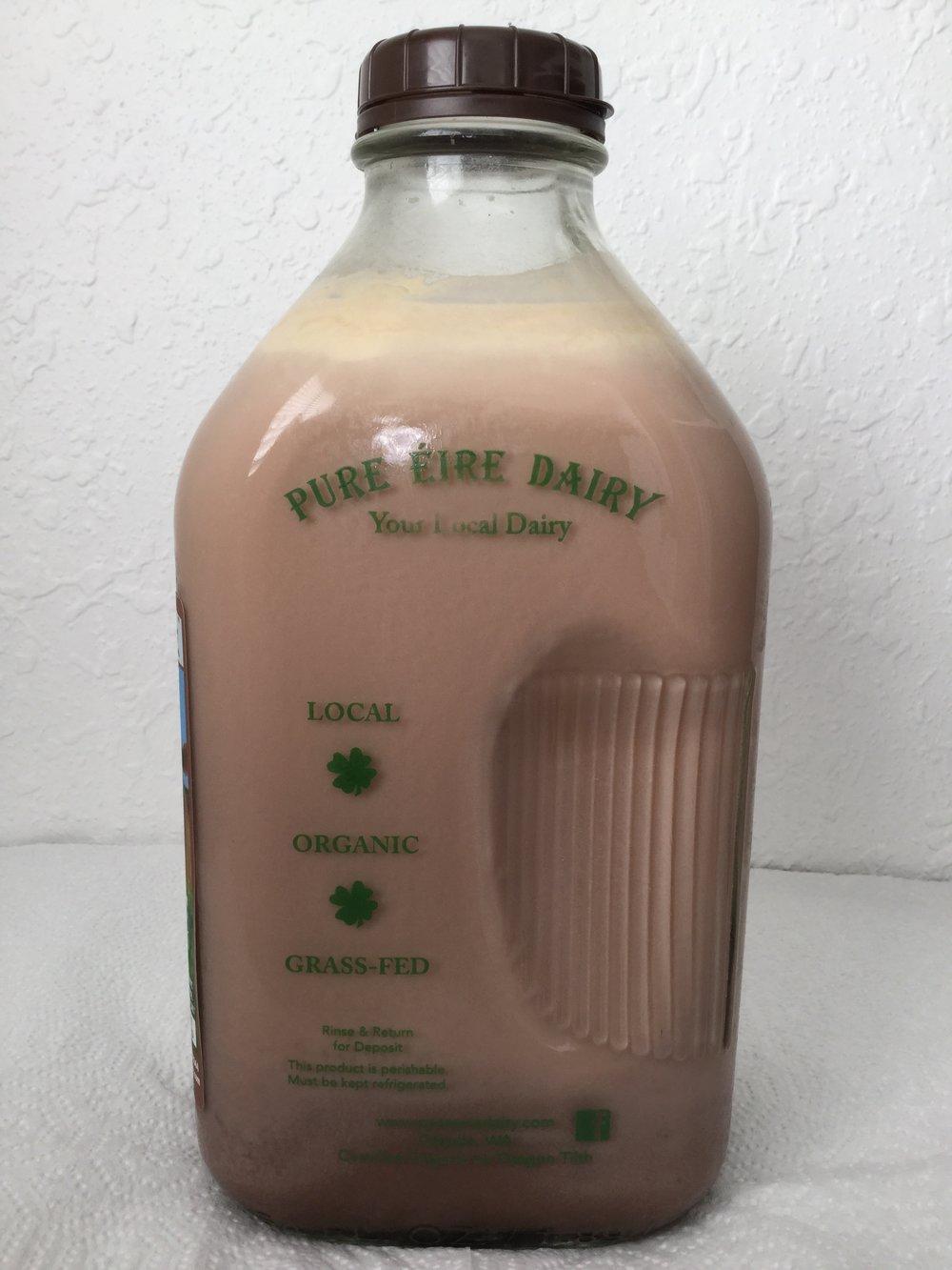 Pure Eire Organic Chocolate Milk Side 1