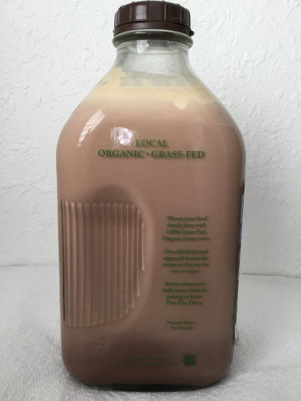 Pure Eire Organic Chocolate Milk Side 2