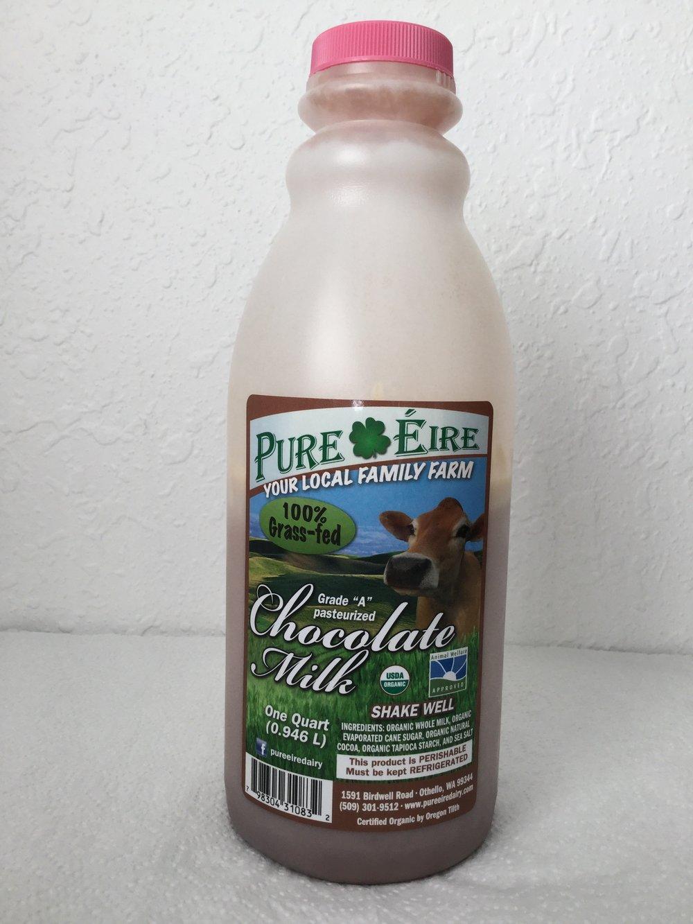 Pure Eire Organic Chocolate Milk Side 4