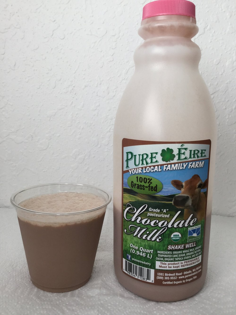Pure Eire Organic Chocolate Milk Side 5