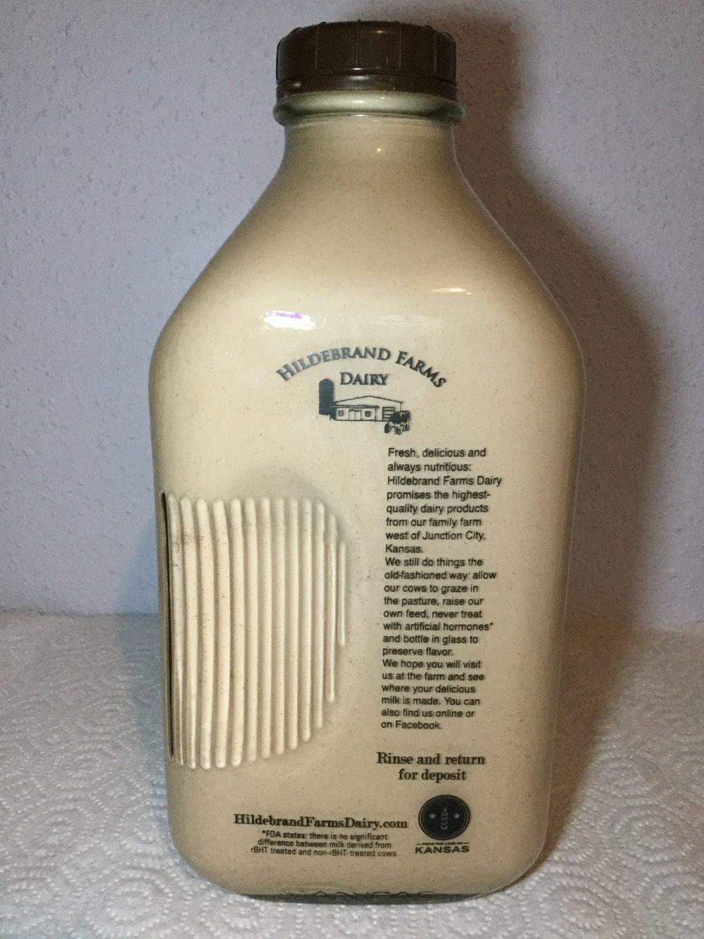 Hildebrand Farms Dairy Chocolate Milk Side 1