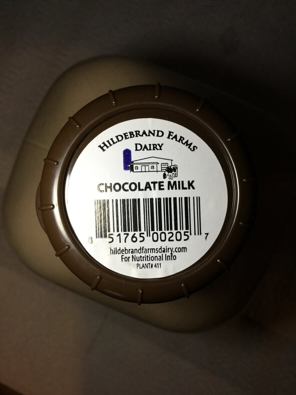 Hildebrand Farms Dairy Chocolate Milk Top