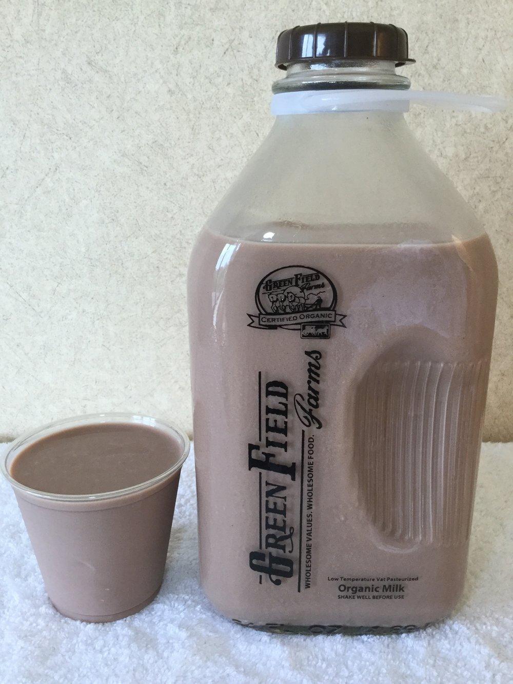 Green Field Farms Organic Chocolate Milk Cup
