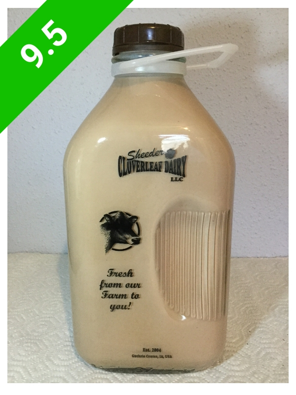 Sheeder Cloverleaf Dairy Chocolate Milk (USA: IA)