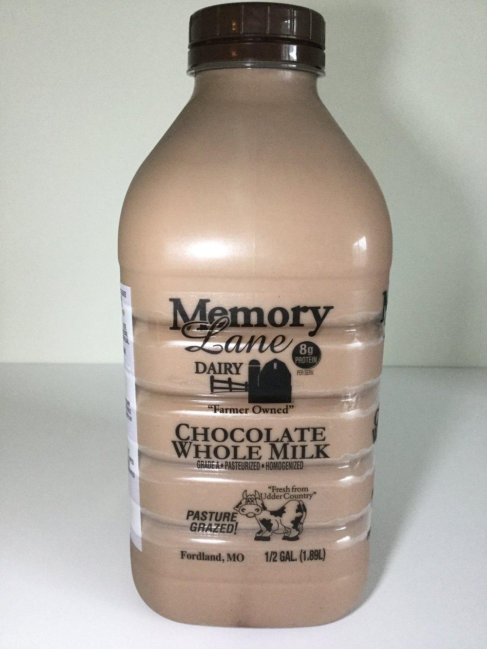 Memory Lane Dairy Chocolate Milk Side 2