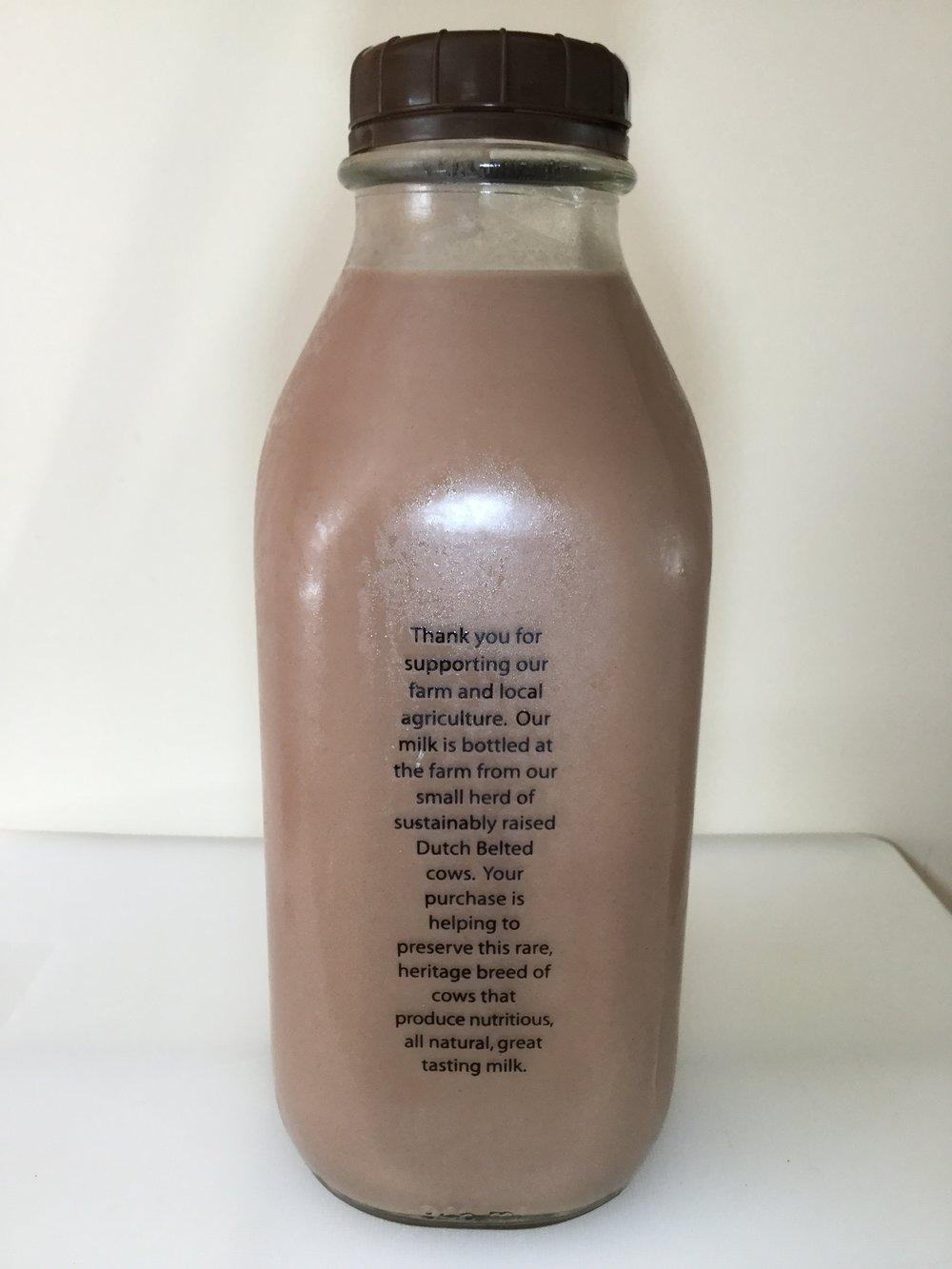 Manning Hill Farm Chocolate Milk Side 1