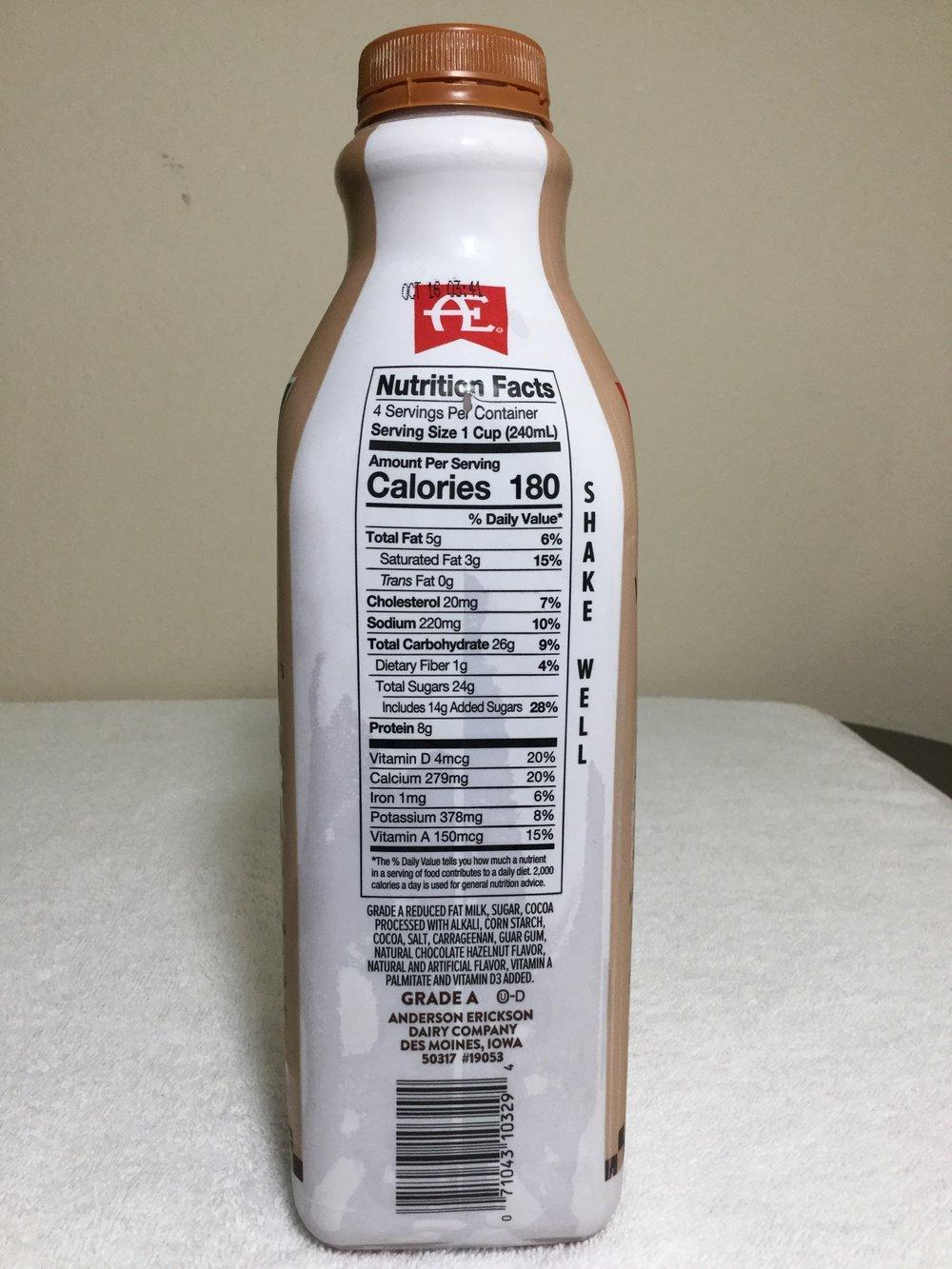 Anderson Erickson Chocolate Hazelnut Milk Side 1
