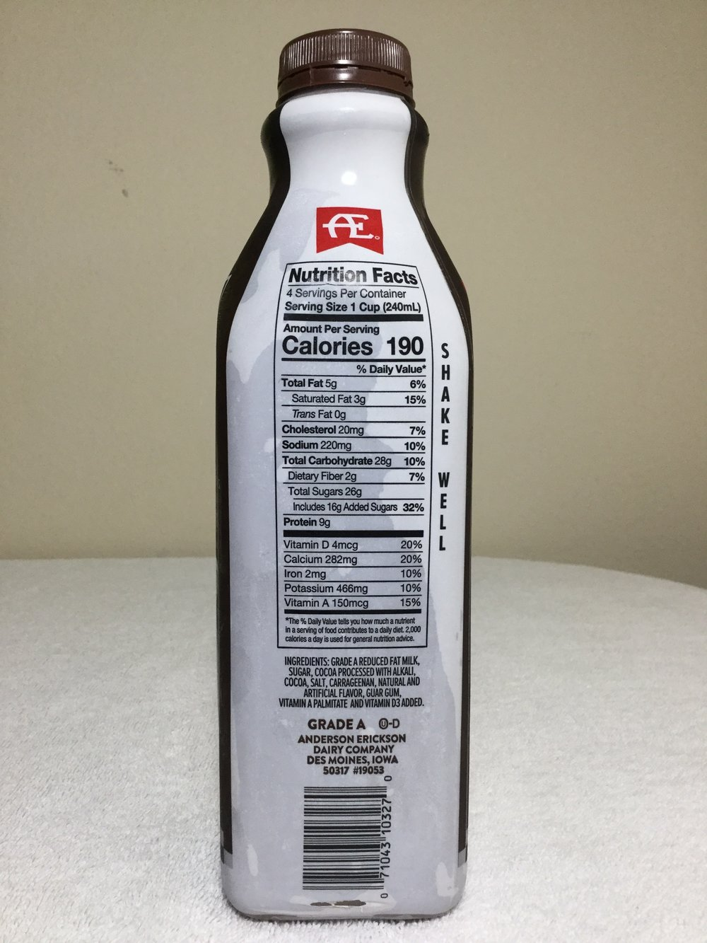 Anderson Erickson Dark Chocolate Milk Side 1