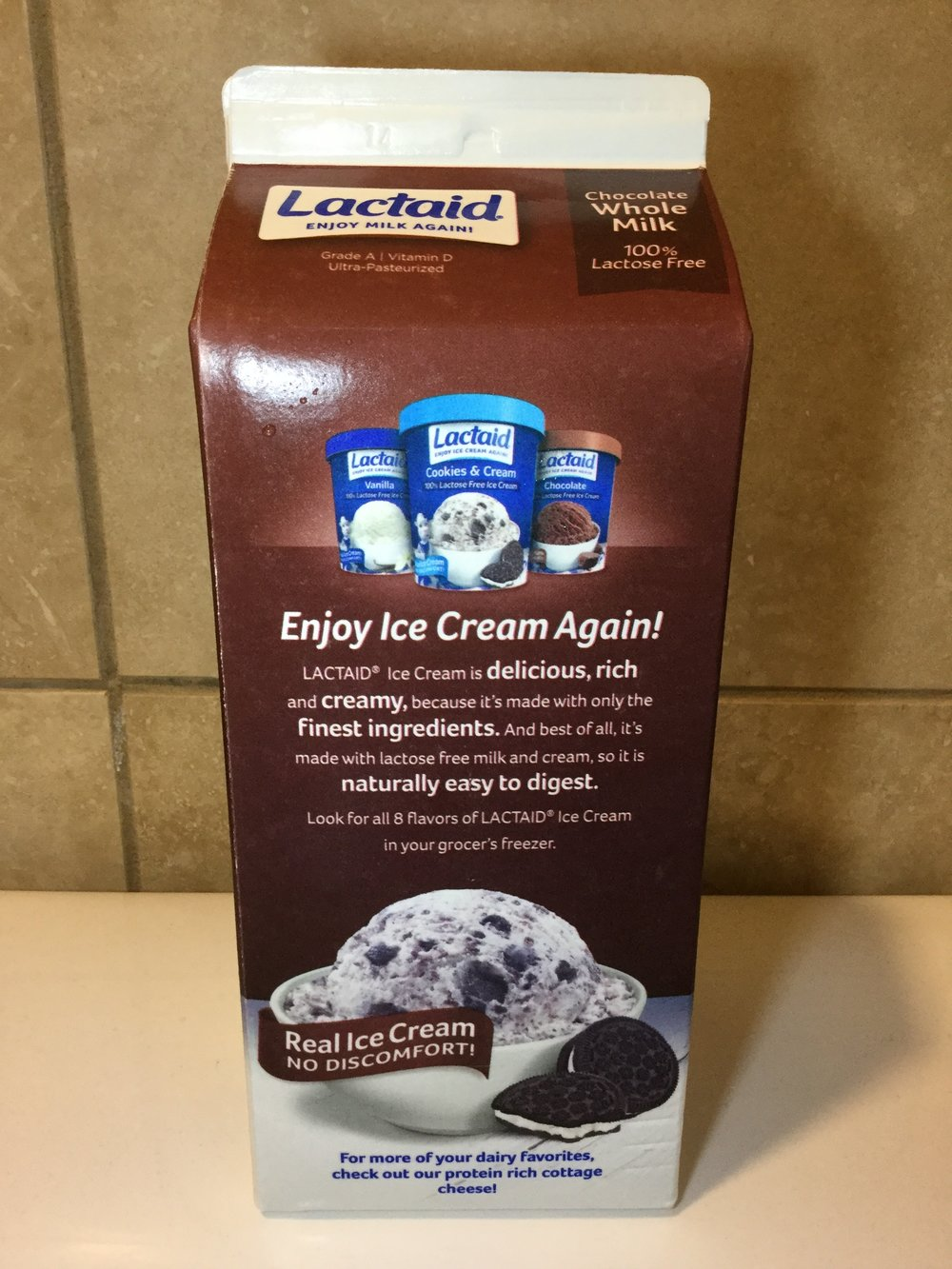Lactaid Chocolate Milk Side 3