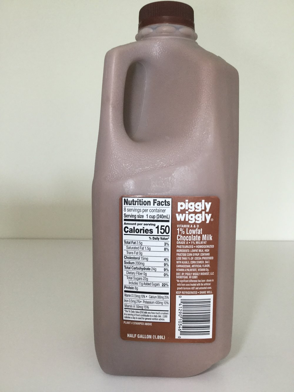 Piggly Wiggly Lowfat Chocolate Milk Side 1