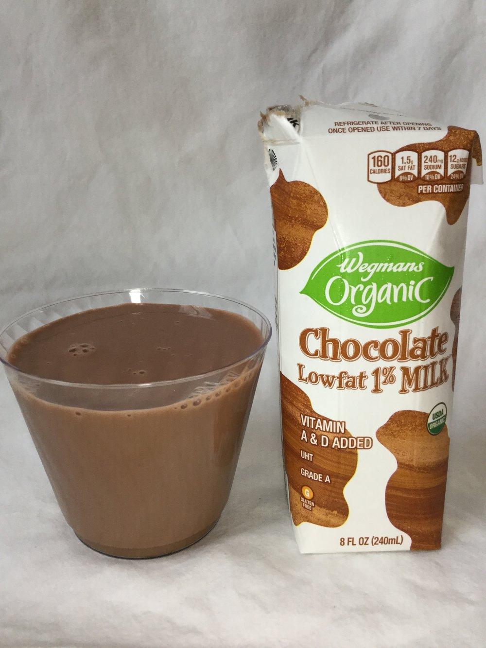 Wegmans Organic Lowfat Chocolate Milk Cup