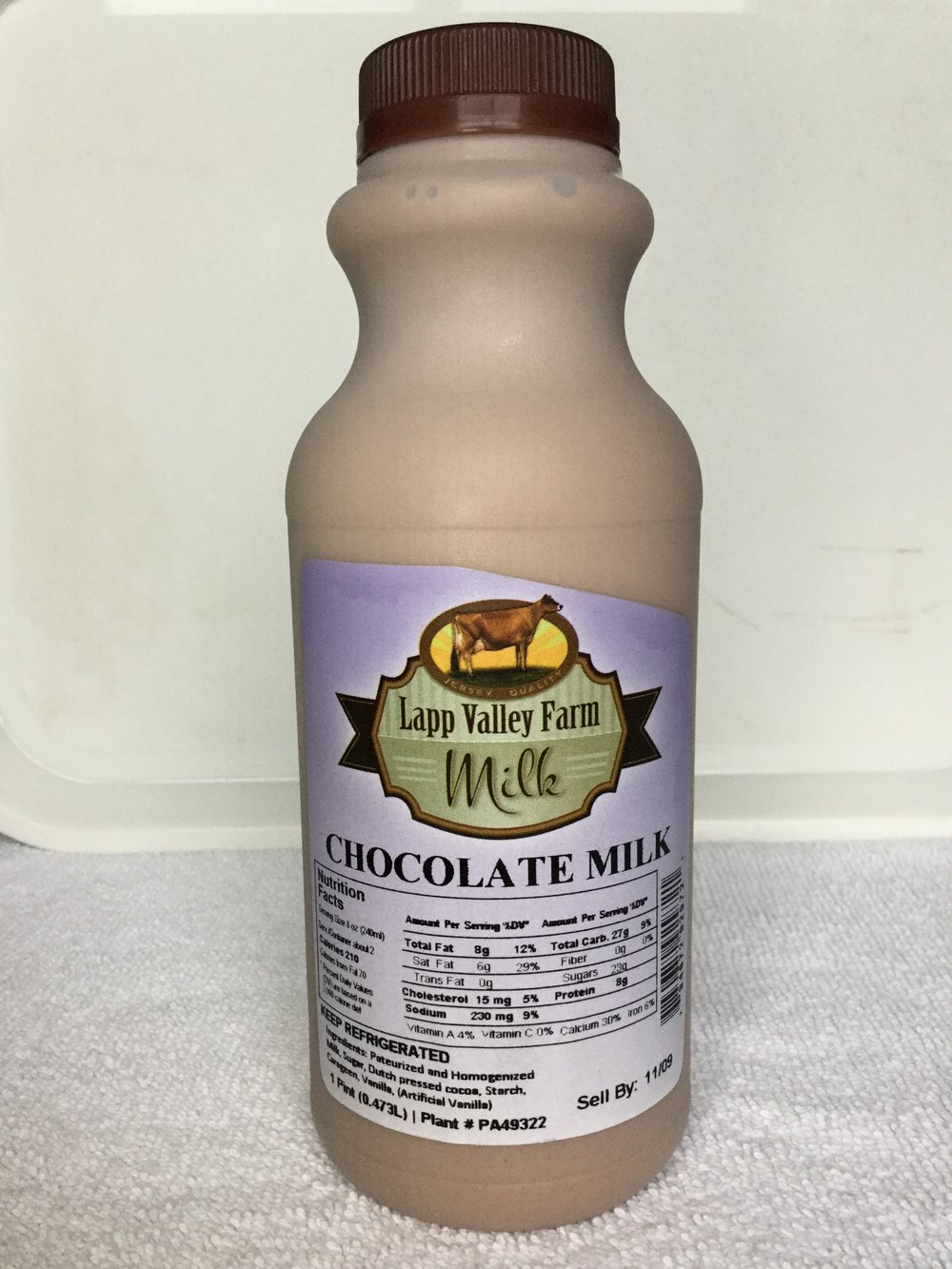 Lapp Valley Farm Chocolate Milk Side 1