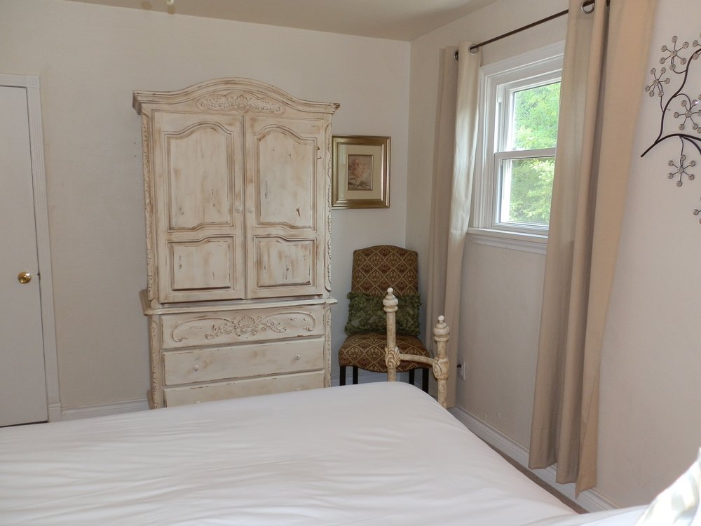Antique armoire in Bedroom #2