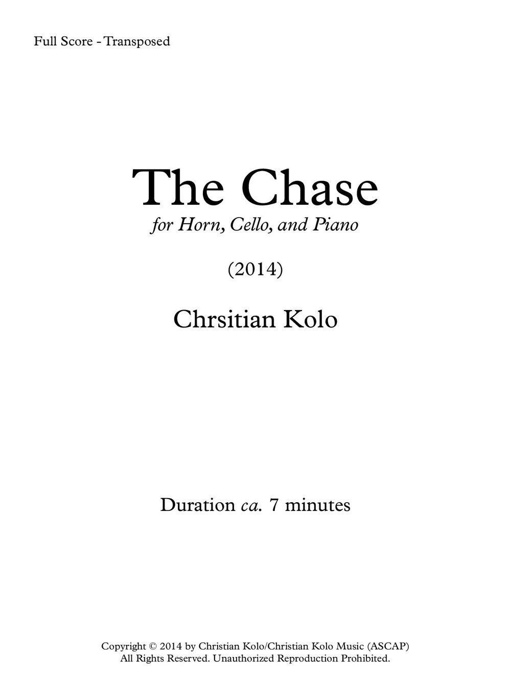 The Chase (Works Cover) - Trio.jpg