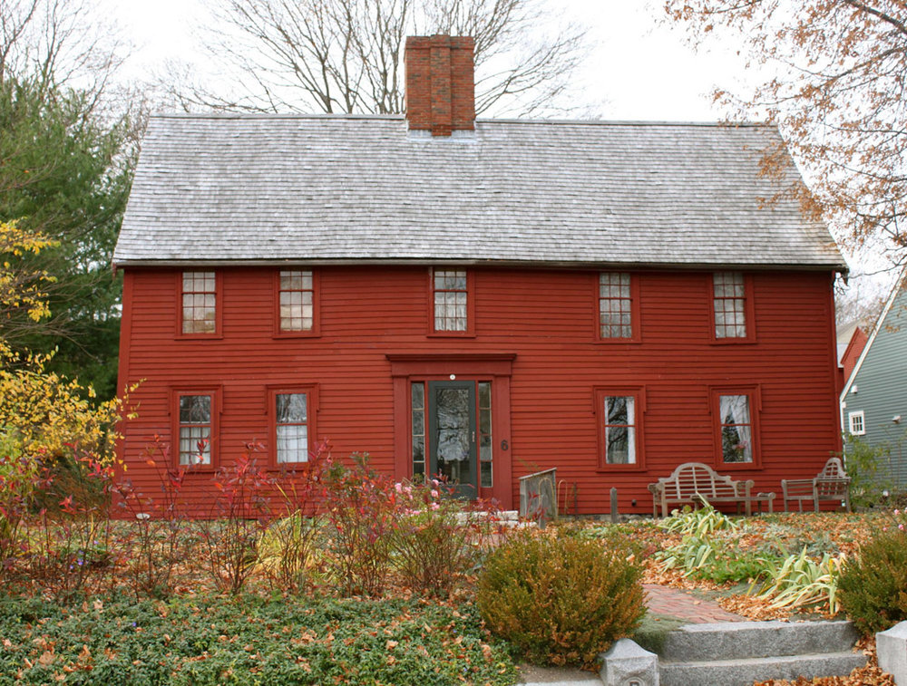 The Preston – Foster House, Ipswich MA. The date of construction of the house is listed as 1690
