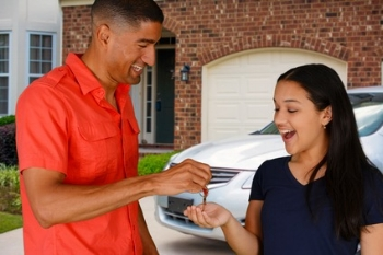 Teen getting car keys.JPG