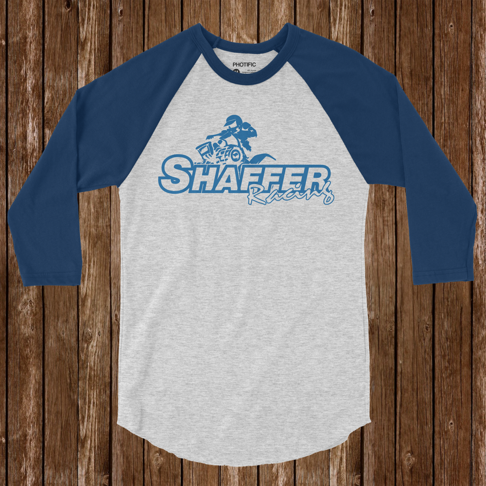 Shaffer Racing Logo Design - I designed this logo for a client. His kid races quads. We used this logo to create banners, t-shirts & hooded sweatshirts. It was created with Adobe Illustrator CC.