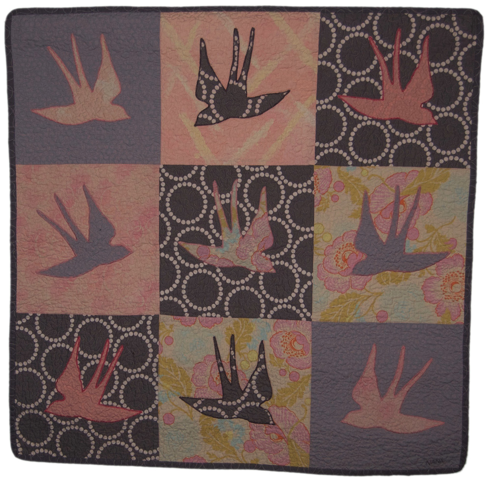 birds baby quilt