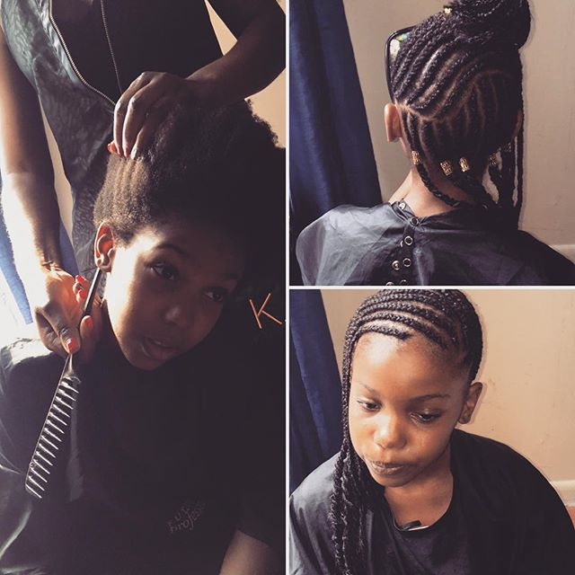 Kids Cornorows $60# Stay Home Get your Hair Braided# https://app.acuityscheduling.com/schedule.php?owner=12340293&appointmentType=1382091# www.niwahair.com