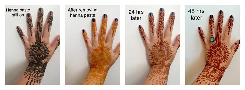 Henna Before And After Oxidation Makedes Com