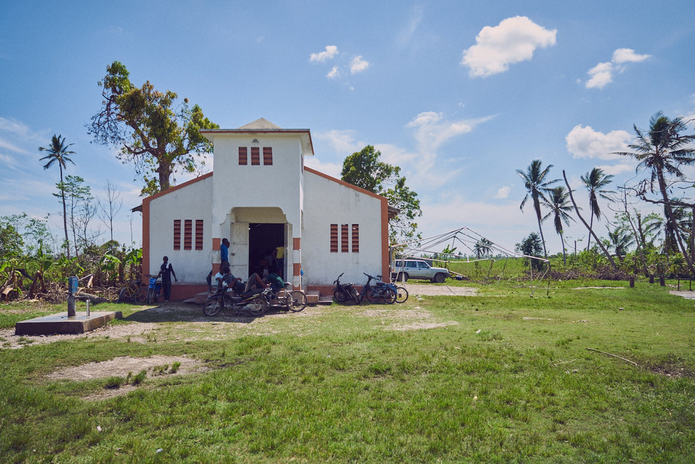 The church in Les Cayes which hosted the Among The Reeds mobile medical clinic.