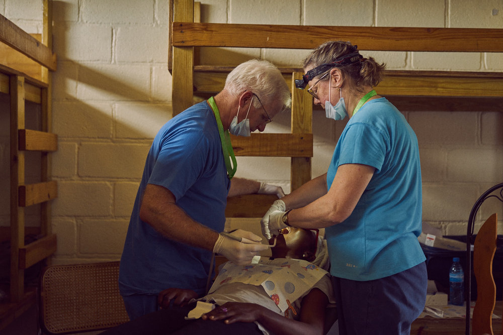 ATR Dentist MaryJane Lungren and husband Kevin perform cleanings and reconstructions.