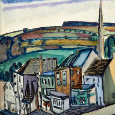 Frances Hodgkins - Burford High Street, Oxfordshire