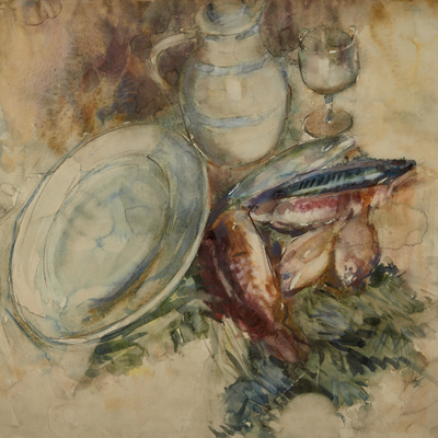 Frances Hodgkins - Still Life with Fish