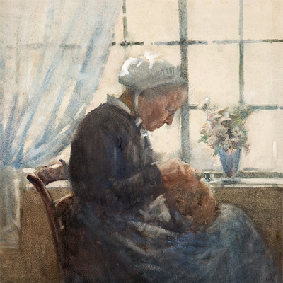 Frances Hodgkins - Old Woman, Caudebec