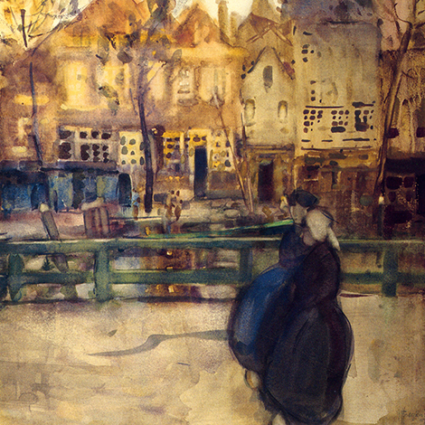 Frances Hodgkins - The Canal, Dordrecht