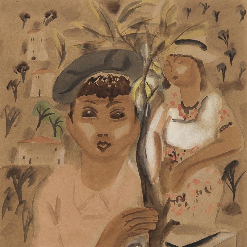 Frances Hodgkins - Figures in a Mediterranean Landscape
