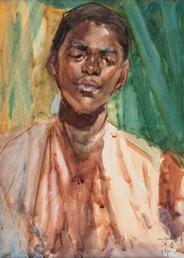 Frances Hodgkins Painting Study of a Sudanese