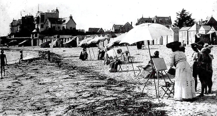 Painting classes on Concarneau Beach c.1910.jpg