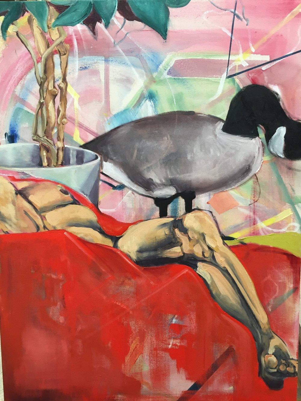 Life study, oil on canvas, 2016